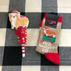 🎄Corgi socks & sticky pad pen stocking stuffer🎄